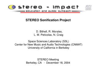STEREO Sonification Project