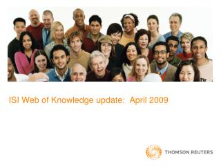 ISI Web of Knowledge update:  April 2009