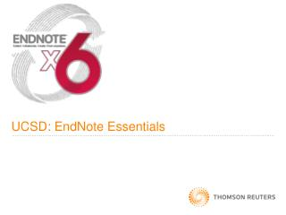 UCSD: EndNote Essentials