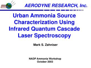 Urban Ammonia Source Characterization Using Infrared Quantum Cascade Laser Spectroscopy