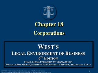Chapter 18 Corporations