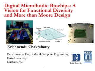 Digital Microfluidic Biochips: A Vision for Functional Diversity  and More than Moore Design