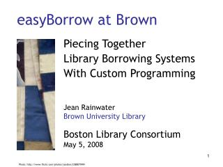 easyBorrow at Brown