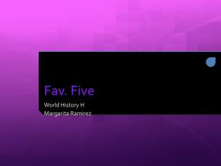 Fav. Five