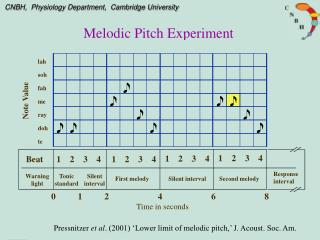 Melodic Pitch Experiment