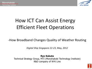 How ICT Can Assist Energy Efficient Fleet Operations