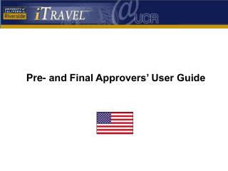 Pre- and Final Approvers' User Guide