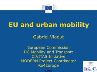 EU and urban mobility