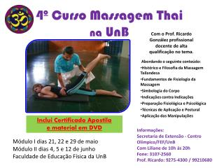 4º Curso Massagem Thai na  UnB