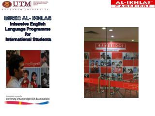 IMREC Al- ikhlas Intensive English Language Programme for International Students