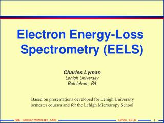 Electron Energy-Loss  Spectrometry (EELS)