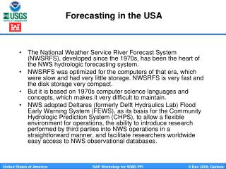 Forecasting in the USA