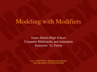 Modeling with Modifiers