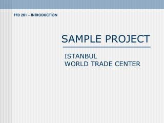 SAMPLE PROJECT