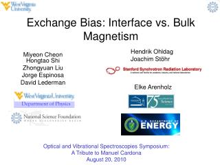 Exchange Bias: Interface vs. Bulk Magnetism