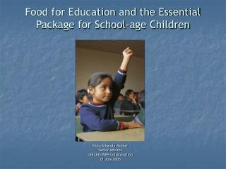 Food for Education and the Essential Package for School-age Children