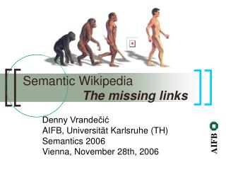 Semantic Wikipedia The missing links