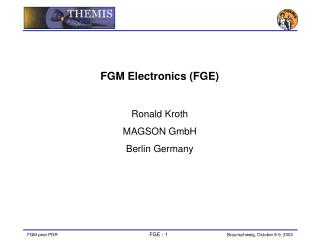FGM Electronics (FGE) Ronald Kroth MAGSON GmbH Berlin Germany