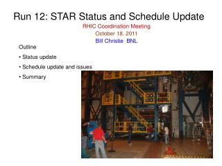 Run 12: STAR Status and Schedule Update RHIC Coordination Meeting October 18, 2011