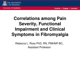Correlations among Pain Severity, Functional Impairment and Clinical Symptoms in Fibromyalgia