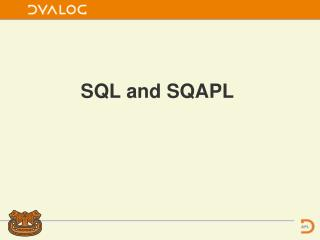 SQL and SQAPL