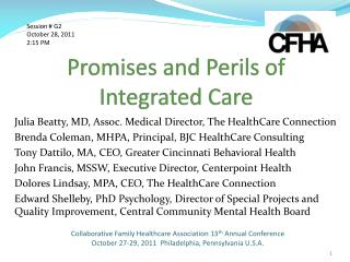 Promises and Perils of Integrated Care