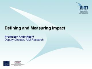Defining and Measuring Impact