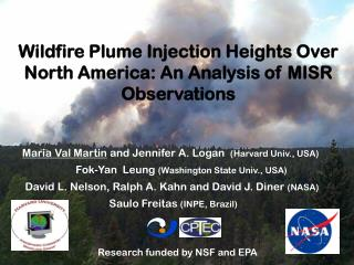 Wildfire Plume Injection Heights Over North America: An Analysis of MISR Observations