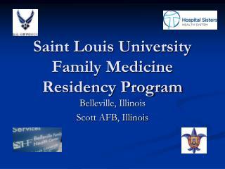 Saint Louis University Family Medicine Residency Program