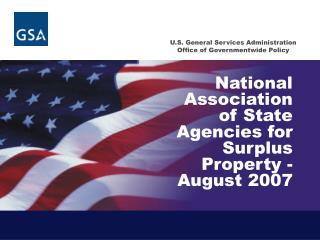 National Association of State Agencies for Surplus Property -August 2007