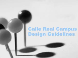 Calle Real Campus Design Guidelines