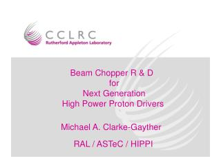 Beam Chopper R & D   for Next Generation High Power Proton Drivers