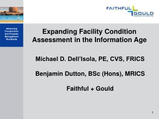 Expanding Facility Condition Assessment in the Information Age