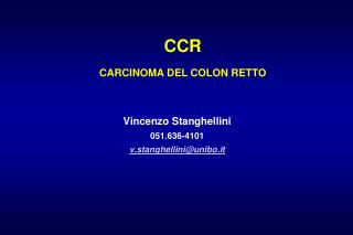 CCR CARCINOMA DEL COLON RETTO