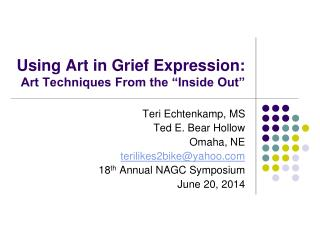 "Using Art in Grief Expression: Art Techniques From the ""Inside Out"""