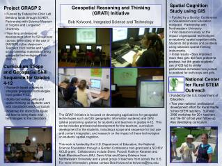 Geospatial Reasoning and Thinking  (GRATI) Initiative