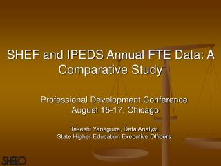 SHEF and IPEDS Annual FTE Data: A Comparative Study