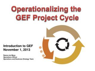 Operationalizing the  GEF Project Cycle
