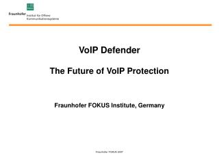VoIP Defender The Future of VoIP Protection