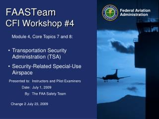 FAASTeam   CFI Workshop #4