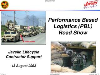 Performance Based Logistics (PBL) Road Show