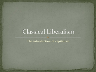 From Mercantilism to Classical Liberalism