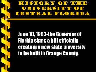 History of  the University of Central Florida