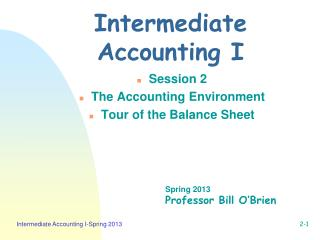 Intermediate Accounting I
