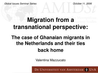 Migration from a transnational perspective: