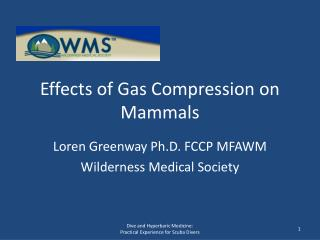 Effects of Gas Compression on Mammals
