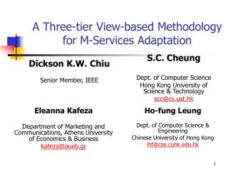 A Three-tier View-based Methodology  for M-Services Adaptation