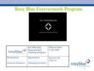 Rosy Blue Forevermark Program