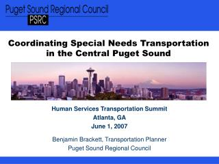 Coordinating Special Needs Transportation in the Central Puget Sound