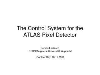The Control System for the  ATLAS Pixel Detector